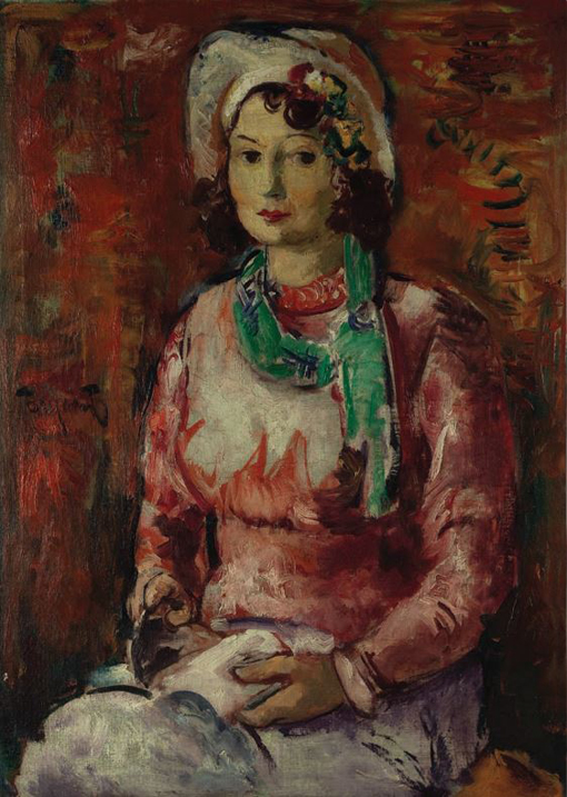Jovan Bijelić, (1886-1964) Jovan_Bijelic_-_Portret_zene_u_crvenom,_1932._Narodni_muzej_u_Beogradu