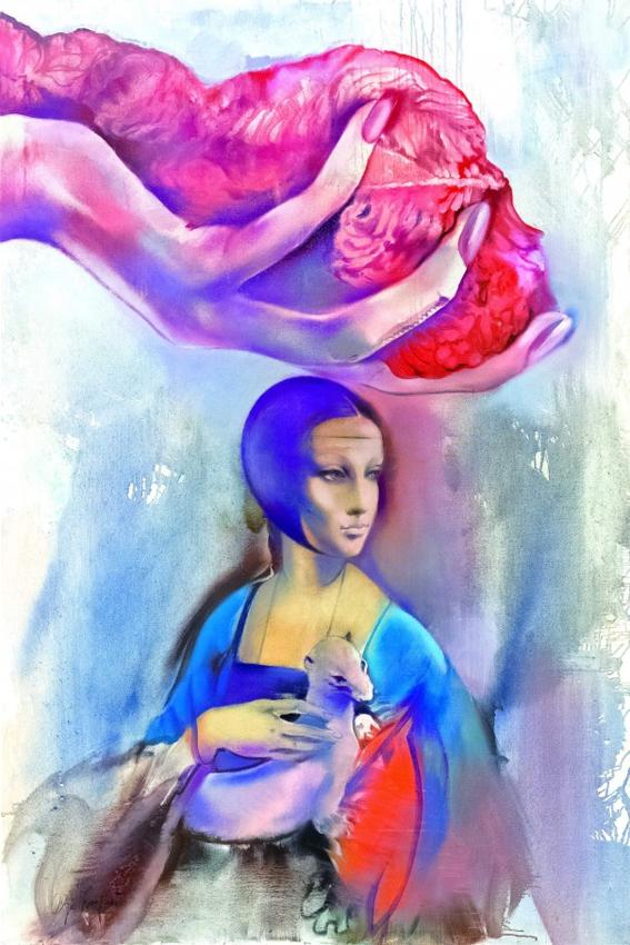 SLIKA 20. VEKA U SLIKARSTVU Olga_Olja_Ivanjicki_-_Dama_sa_hermelinom_1998.