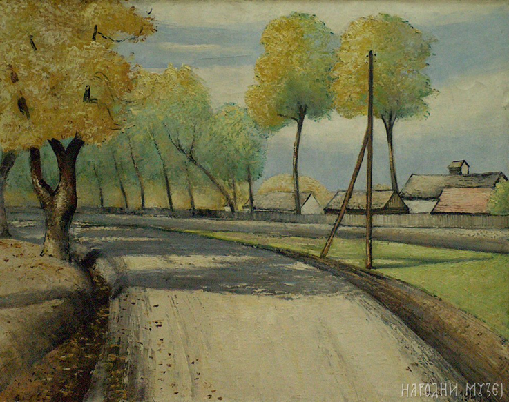 Umjetnička galerija Haoss Sava_Sumanovic_-_Jesenji_put_1941_ulje_na_platnu_73hX92_cm